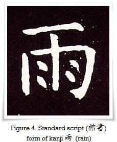 figure_4_standard_script_form_of_kanji_rain