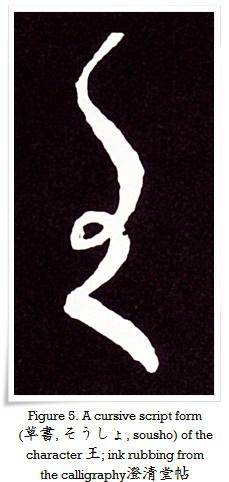 Figure 5. A cursive script form (草書, そうしょ, sousho) of the character 王