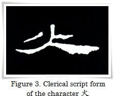 figure_3_kanji etymology_fire