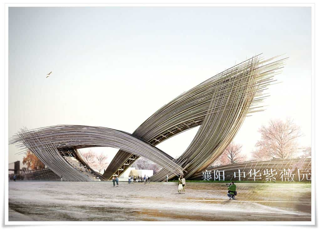 ... inspires the landmark 'blossom-gate' in the City of Xiangyiang