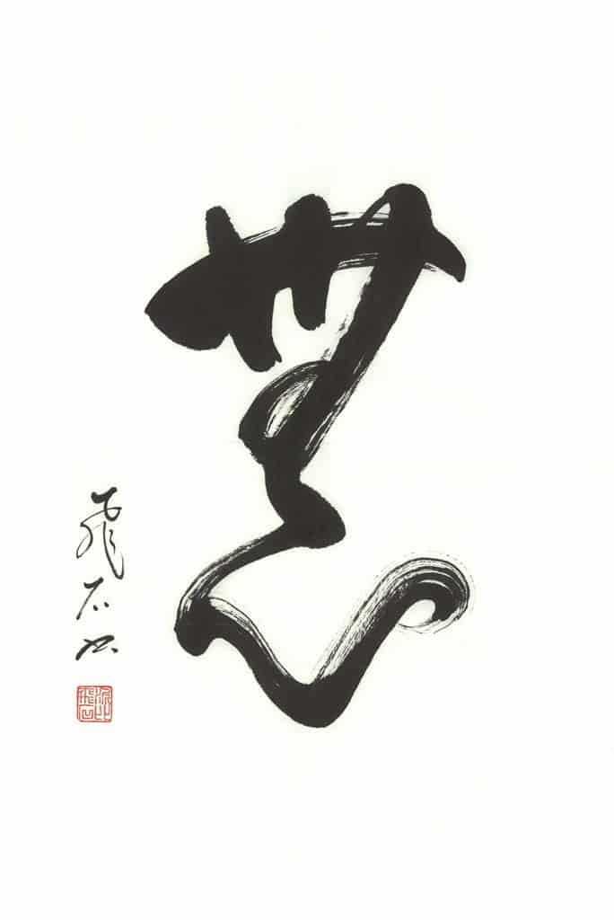 Beyonbcalligraphy_shodo-an-empty-mind_Mushin